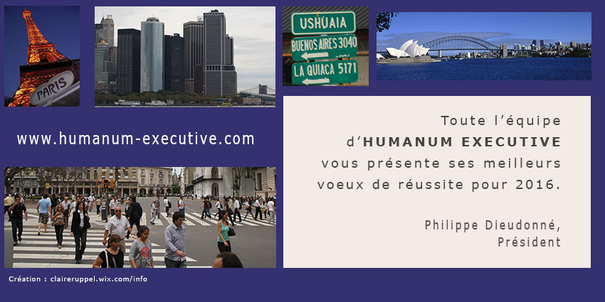 Carte Voeux HUMANUM EXECUTIVE 2016