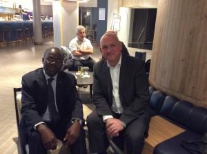 Son Excellence André Nzapayeké, ancien Premier Ministre de la République Centrafricaine, Ambassadeur Extraordinaire et Plénipotentiaire, Haut Représentant auprès de l'Afrique du Sud et Philippe Dieudonné - Président de la société HUMANUM EXECUTIVE