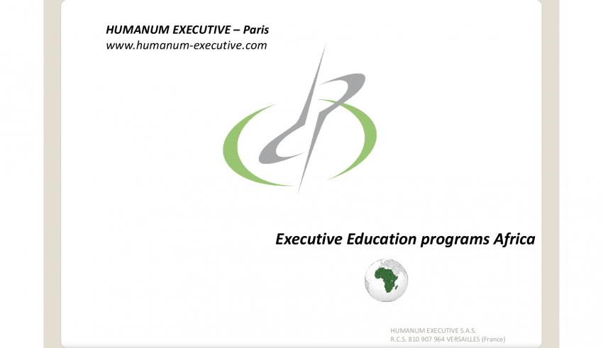 HUMANUM EXECUTIVE - Executive Education programs Africa